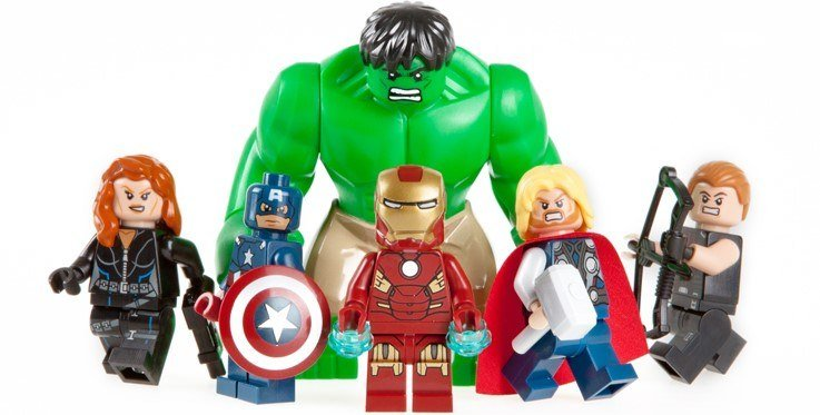 A pic of the Avengers as LEGOs, and I would imagine, the Hulk is the least flexible of the bunch.