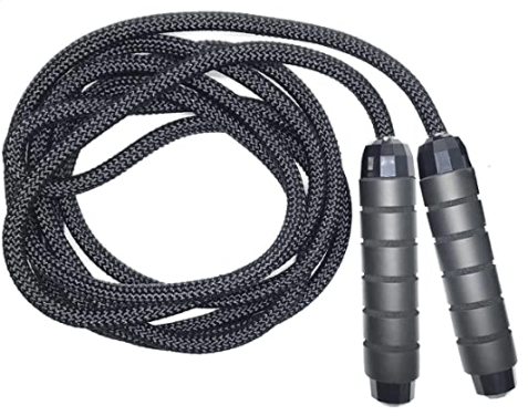 The weighted jump rope shown here is going to be for advanced jump ropers.
