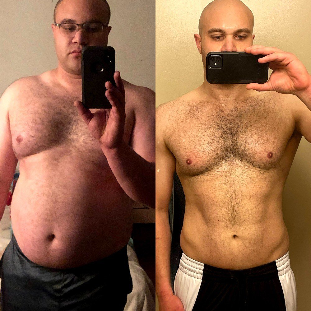 Brian's before and after