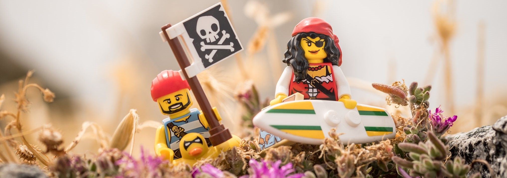 Two LEGO pirates ready for the beach.