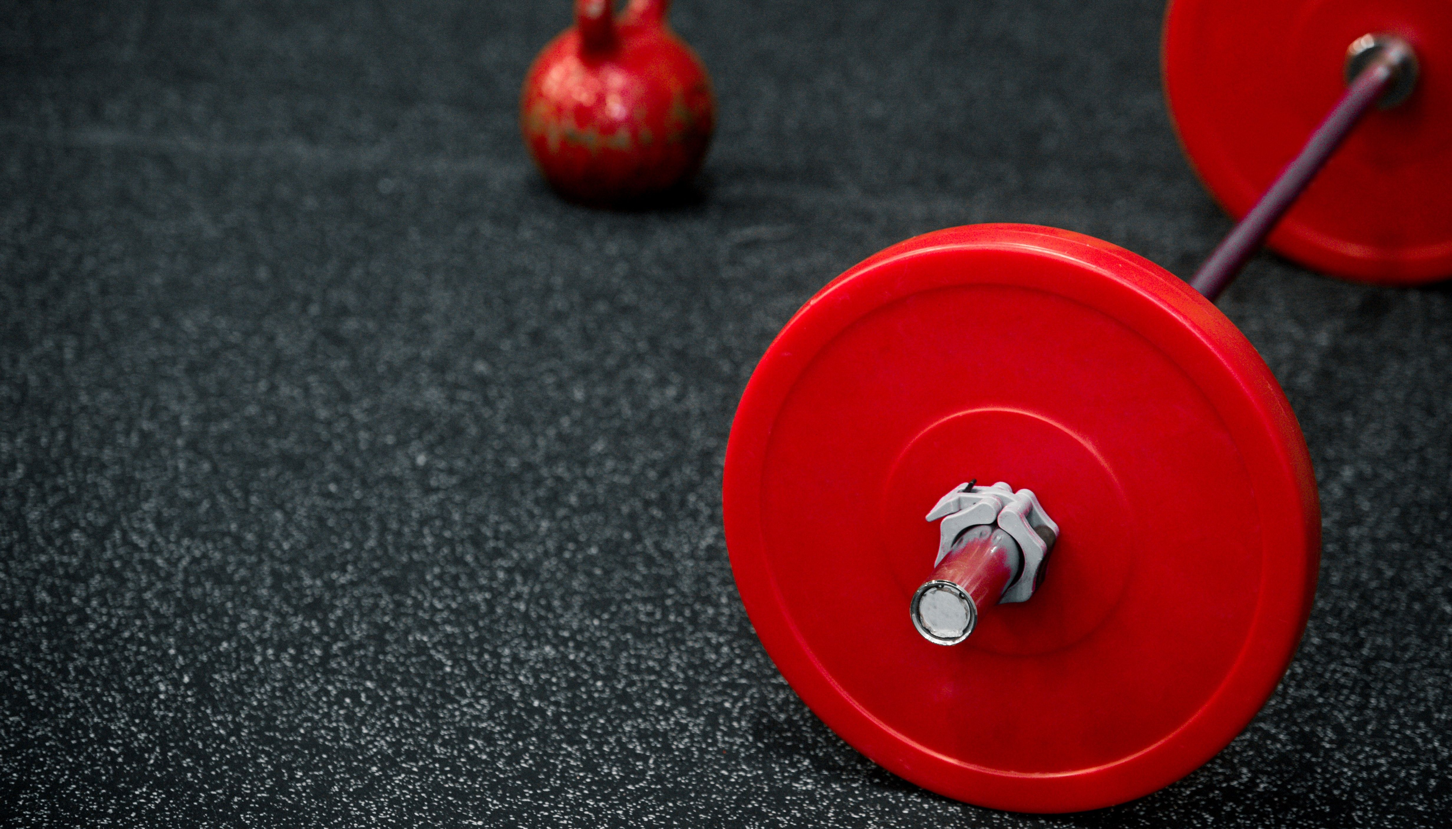 Closeup image of a fitness equipment.